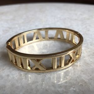 NEW Brass Roman Numeral 90s style bangle